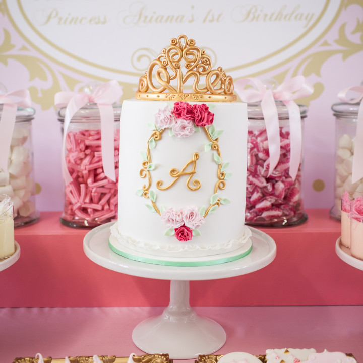 Ariana's 1st Birthday with princess theme decoration